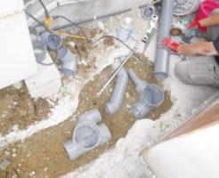 兵庫県宝塚市での配管が詰まるため排水管工事