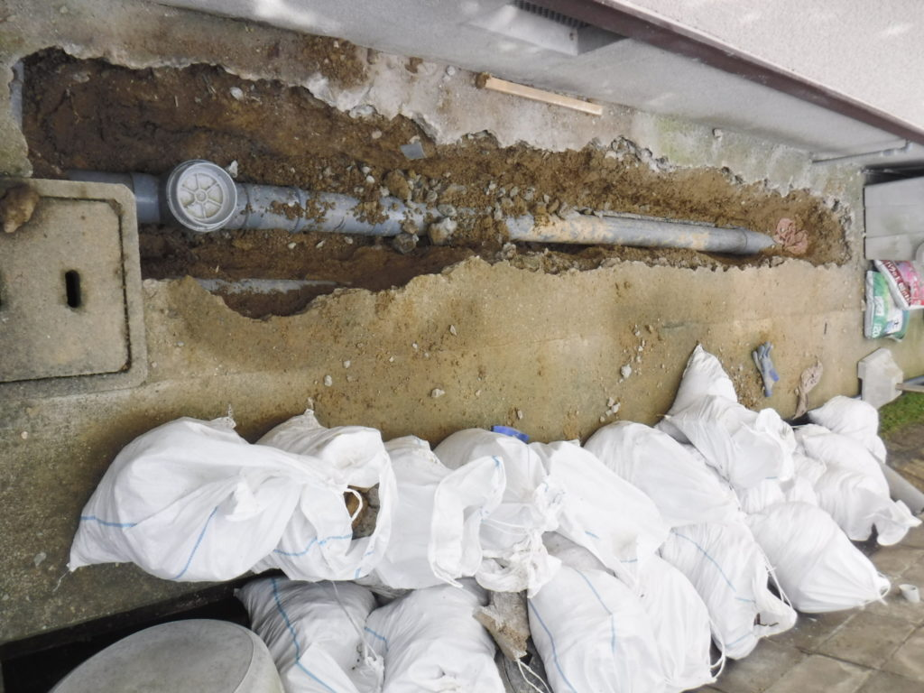 排水管新設完了