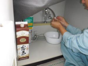 シャワーホースの取り換え交換作業