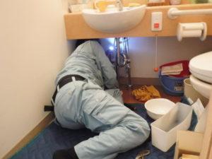 水道シャワーホースの水漏れ部品の取り換え交換後確認