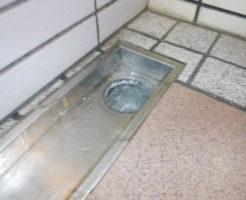 大阪府池田市お風呂排水口つまり掃除前