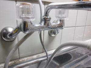 2バルブ混合水栓の水漏れ