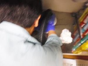 キッチン配管から直接清掃