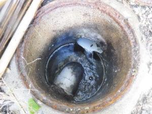 キッチン油の塊除去後
