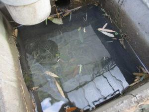 詰まって水が流れない雨水会所