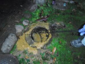 トイレの汚水がマンホールから逆流