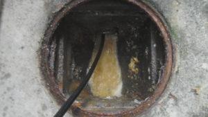 配管から出てくる汚水が少なくなってきました