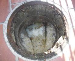 大阪府池田市での排水管詰まり高圧洗浄清掃作業前