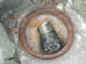 排水管の詰まりが解消され2件のお家共に水が流れるようになりました