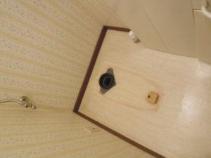 便器を取り外してトイレが空っぽになりました