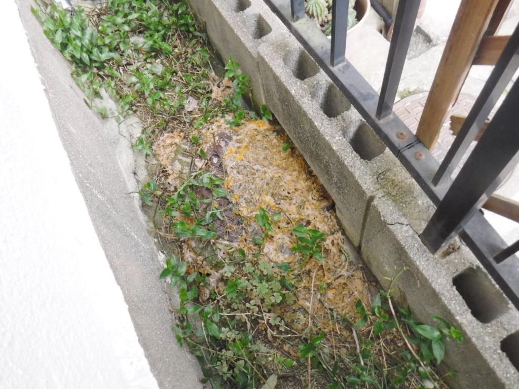 大阪府池田市での高圧洗浄清掃作業前、下水が詰まり屋外マンホールから汚水が溢れて逆流