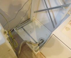 兵庫県芦屋市での洗面所洗濯機排水口つまり解消作業