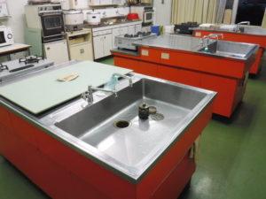 3つある内の手前のキッチンシンクだけ水の引きが悪かったようです