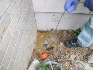 大阪一戸建て住宅のお家で排水詰まり解消のため高圧洗浄でつまりの修理