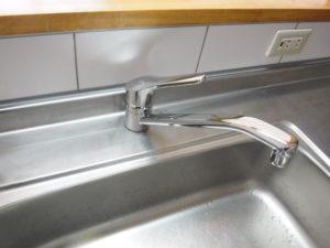 キッチンシングルレバー水栓取替交換後