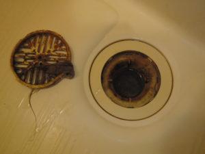 風呂排水溝清掃前