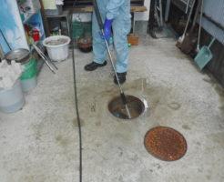 兵庫県尼崎市排水管点検と汚水マスの掃除
