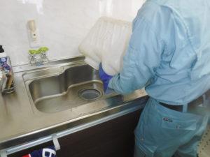 キッチン排水口清掃