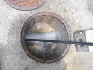 屋外下水高圧洗浄