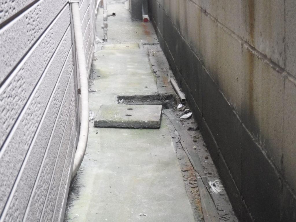 排水工事、大阪府大東市/コンクリート会所マス補修