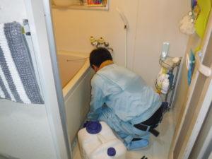 お風呂排水清掃中