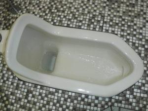 トイレの詰まりと小便器の掃除
