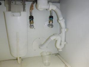 洗面台下水漏れの状態