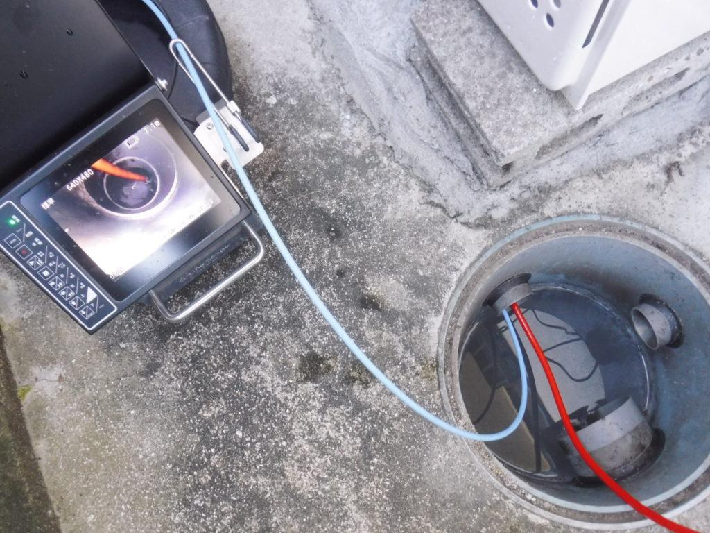 大阪府池田市での排水管木の根詰まり/高圧洗浄と調査カメラによる詰まり解消作業
