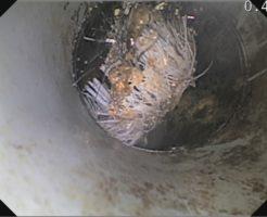 排水管の詰まり原因は管内に落としたブラシでした