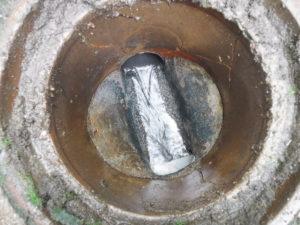 排水管のつまりが解消された状態