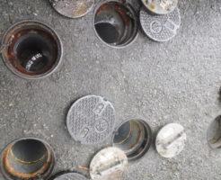 トイレ配水管がつまり屋外からの高圧洗浄作業