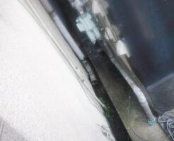 側溝掃除前表玄関側